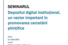 Seminar privind serviciile depozitului digital institutional
